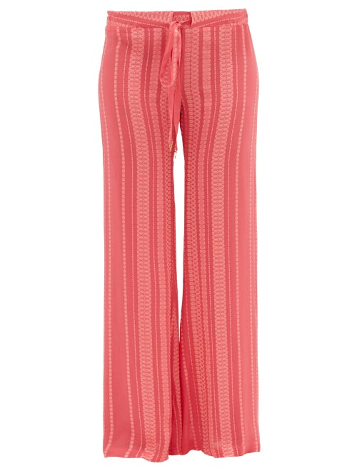Zeus + Dione - Alcestes Silk-blend Crepe Palazzo Trousers - Womens - Pink