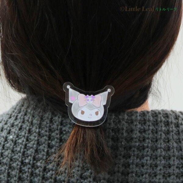 大賀屋 日本製 酷洛米 髮束 髮戴 髮圈 橡皮筋 髮飾 配件 頭飾 綁頭髮 透明 女性 三麗鷗 正版 J00040208