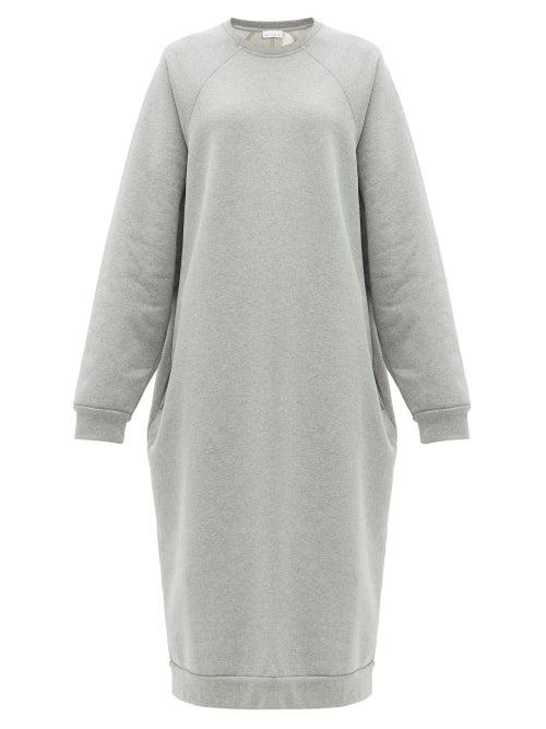 Raey - Recycled-yarn Cotton-blend Sweatshirt Dress - Womens - Grey Marl