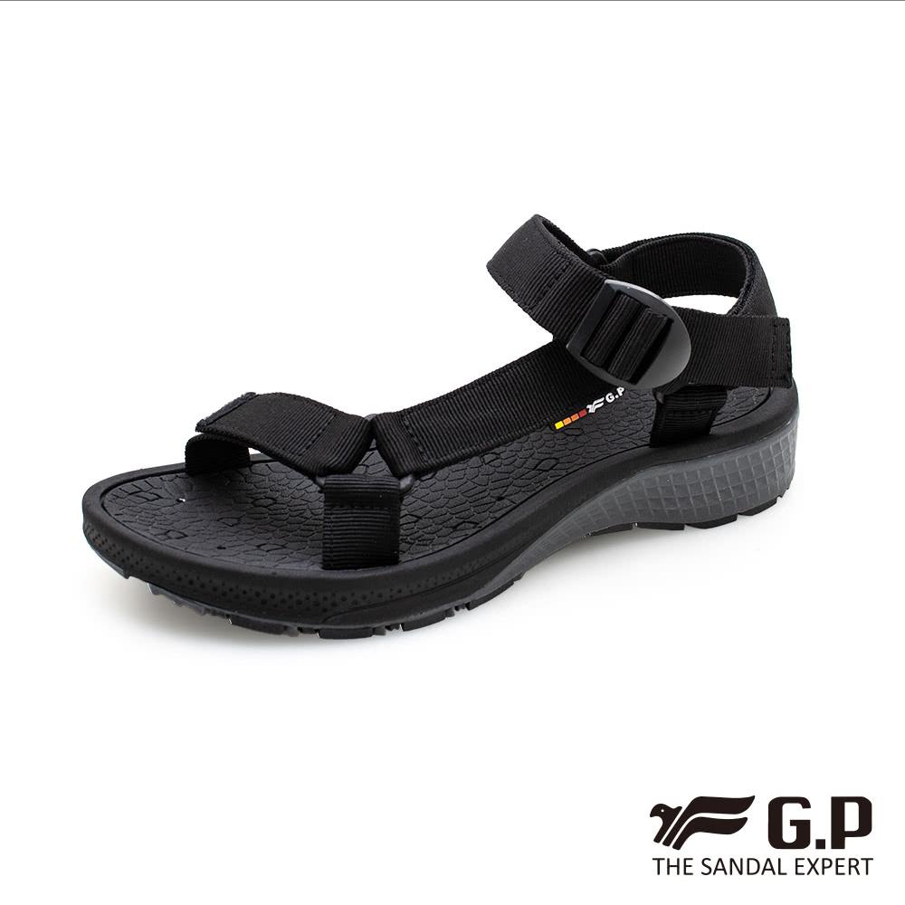 G.P (男) ULTRALITE 舒適機能織帶鞋-黑(另有藍)