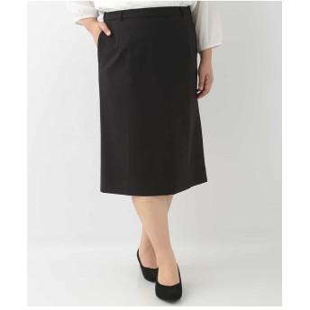 eur3 【大きいサイズ】Eストレッチタイトスカート その他 スカート,ブラック