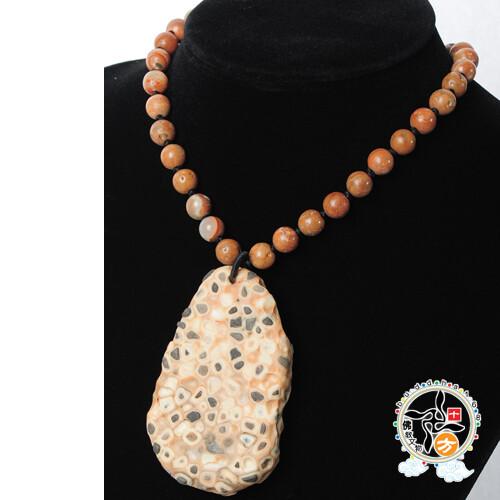 滿願龍宮舍利原礦能量石項鍊 十方佛教文物