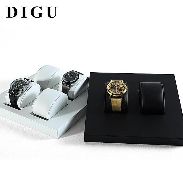 新款手表展示盤PU皮活動情侶手表擺放托盤展示道具手鏈展示架