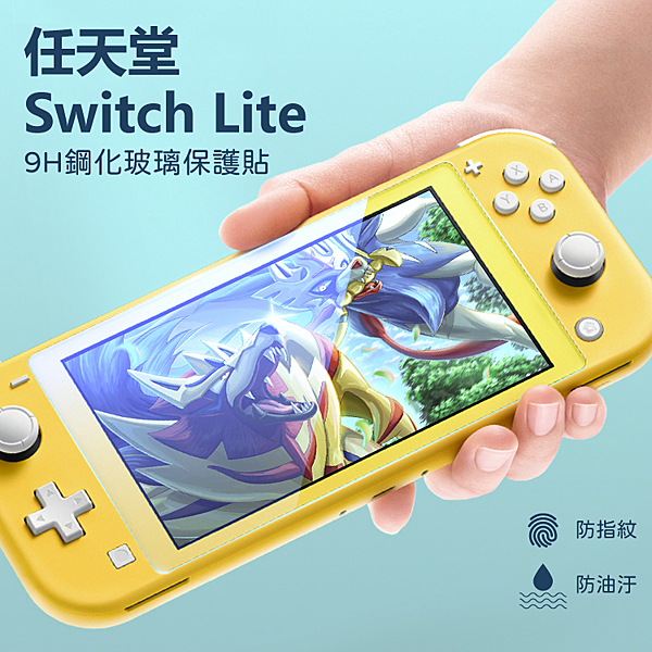 Nintendo Switch Lite 0.2mm 2.5D 9H高清疏油疏水鋼化玻璃 玻璃保護貼 高清亮面 高透光 防刮 防指紋