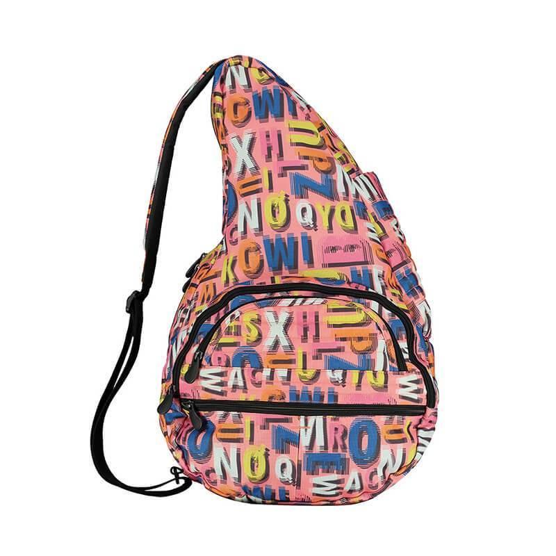 水滴單肩側背包 - 字母塗鴉/Big