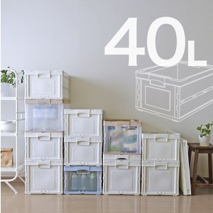 【RISU】可折疊式收納箱 40L-全白色(單入)