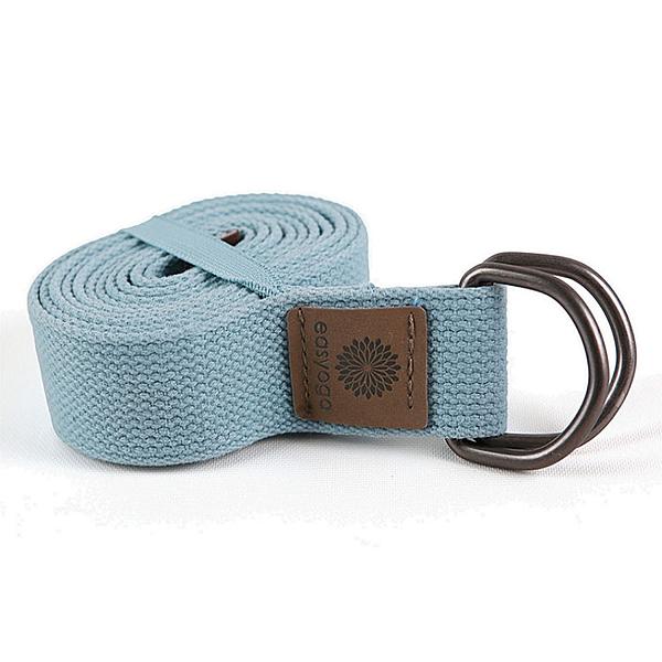easyoga 瑜珈繩 瑜珈伸展帶 180cm - 藍色
