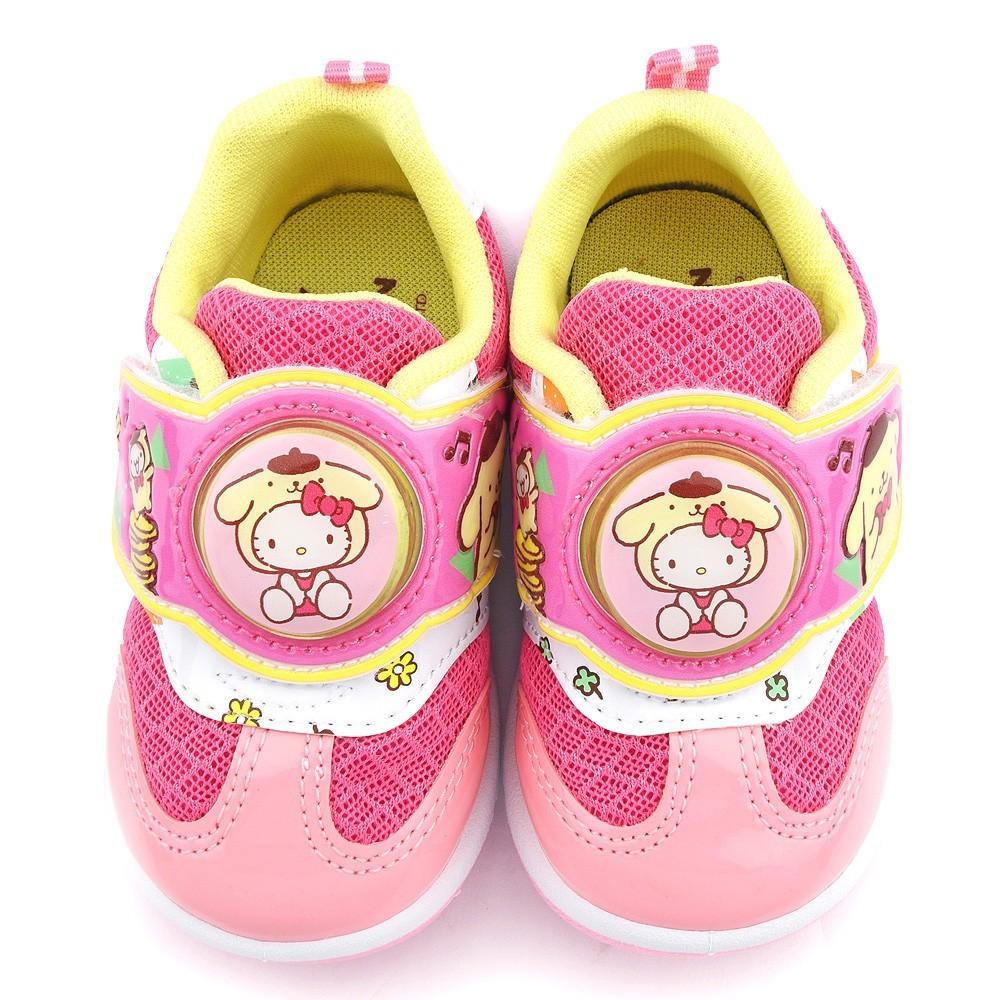 鞋子部落 kittyx布丁狗聯名款透氣款led燈運動鞋 中童 kt7179 粉