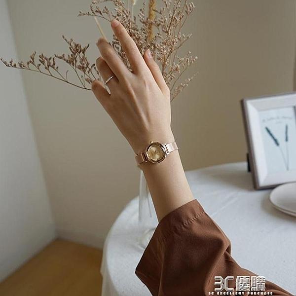 伴朵手錶女簡約ins風氣質小巧復古女式女士女生手錶女學生小錶盤 3C優購