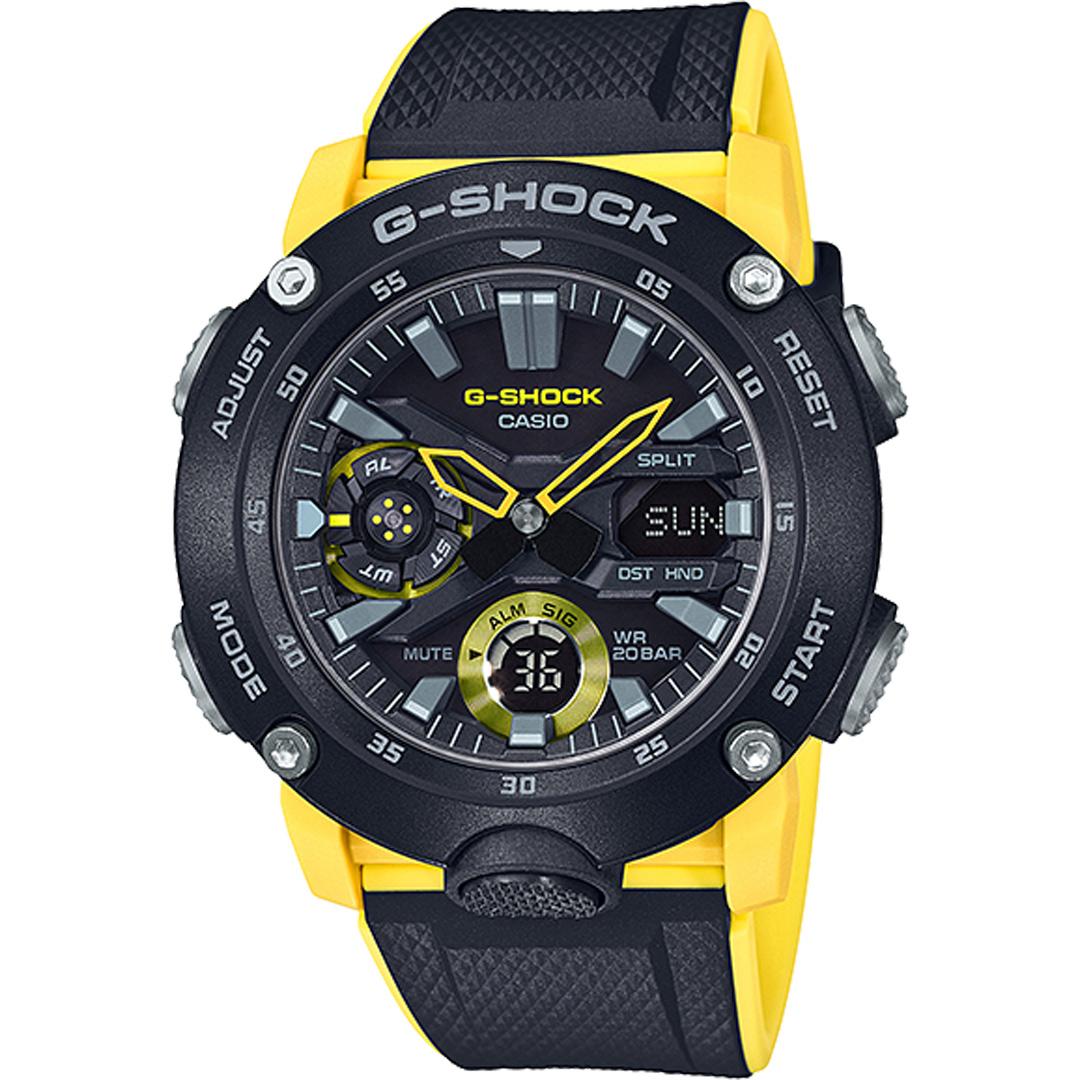 CASIO 卡西歐 G-SHOCK  GA-2000-1A9 雙顯電子錶