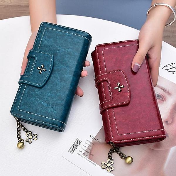 錢夾-奔蕾錢包女長款2021新款時尚大容量多功能拉錬皮夾手包女小包手拿
