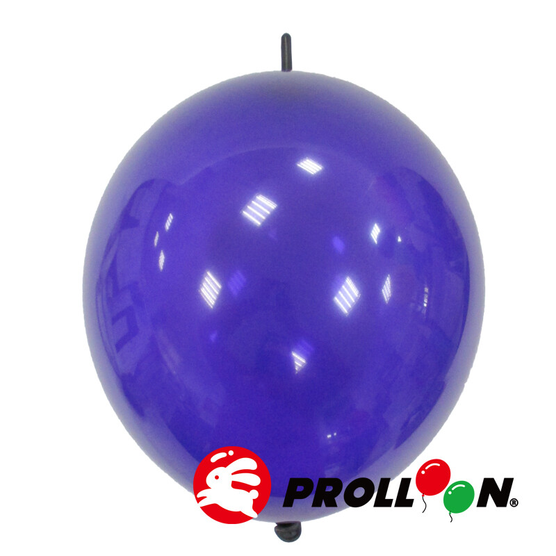 大倫氣球12吋糖果色 圓形連接氣球 針球 100顆裝 水晶紫 台灣製造 安全無毒