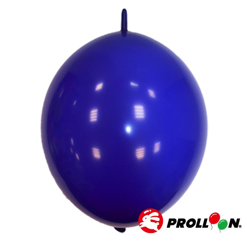 大倫氣球6吋糖果色 圓形連接氣球 針球 100顆裝 寶石藍 台灣製造 安全無毒
