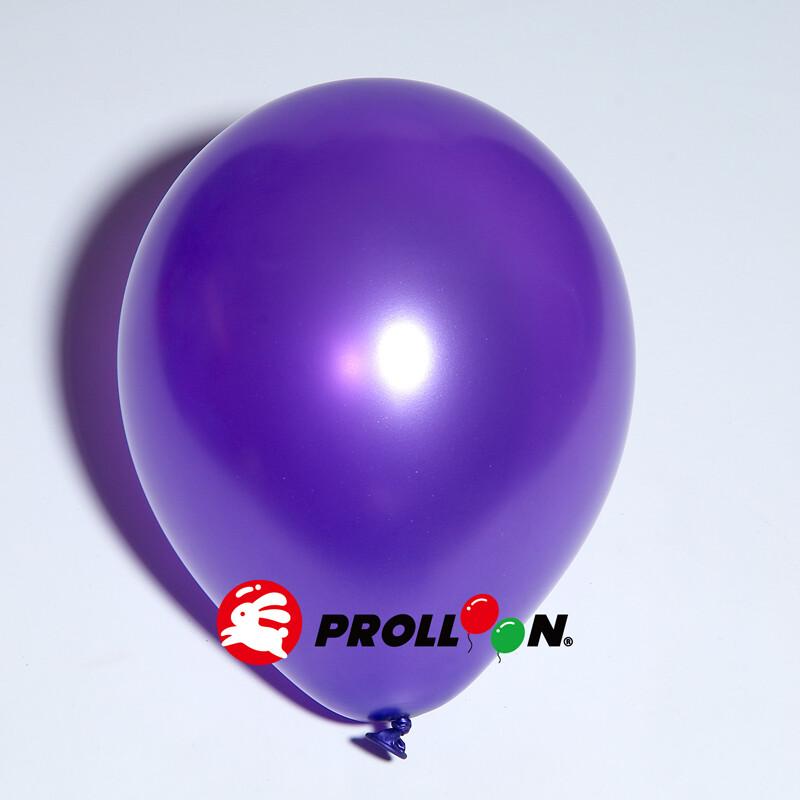 大倫氣球10吋珍珠色 圓形氣球 100顆裝 深紫色 台灣製造 安全無毒
