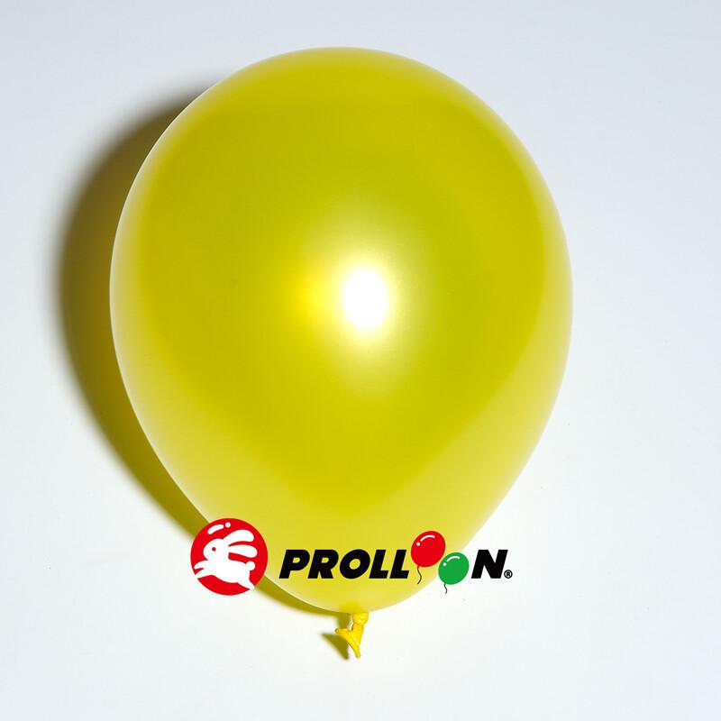 大倫氣球9吋珍珠色 圓形氣球 100顆裝 台灣製造 黃色 安全無毒