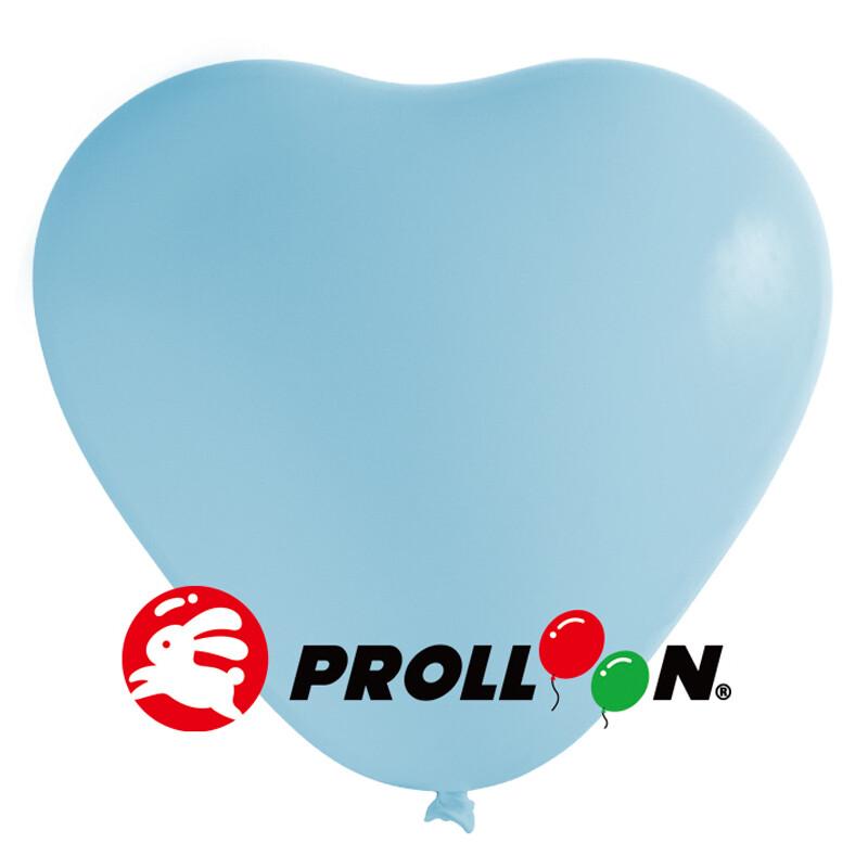 大倫氣球 12吋糖果色 心形氣球 100顆裝 淺藍色 台灣製造 安全無毒