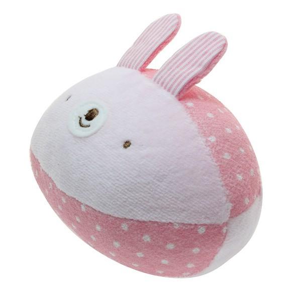anano cafe 粉紅兔布質鈴鐺球