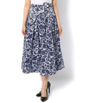 Loungedress(ラウンジドレス) レディース 【ULLA JOHNSON】花柄スカート ブルー