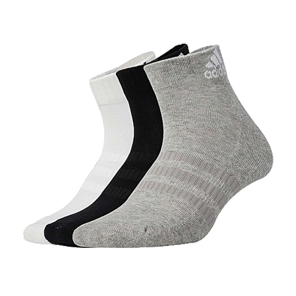 ADIDAS 男女運動短襪-三入 三色 襪子 愛迪達 黑白灰