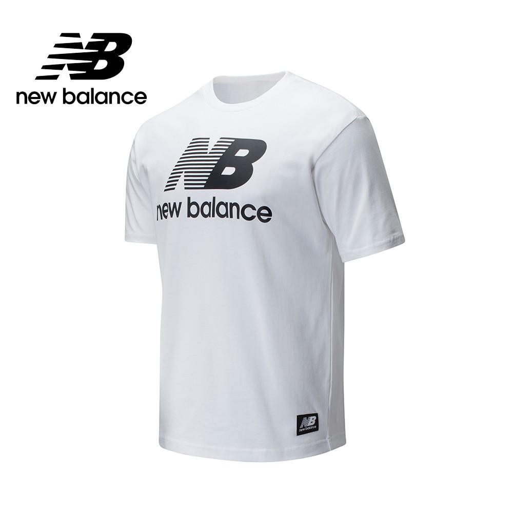 【New Balance】懷舊系列Logo短袖上衣_AMT01518WT_男性_白色