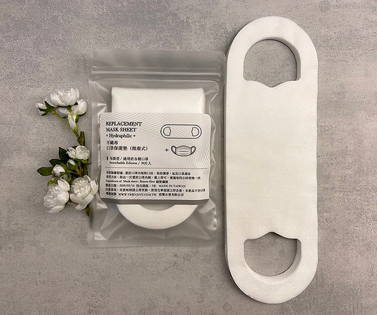 Mask Sheet 口罩保潔替換襯墊(拋棄式)耳掛造型 12包入360片