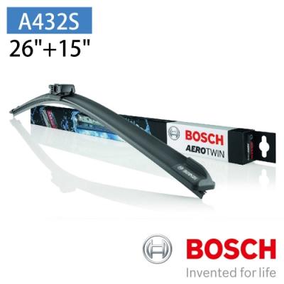 """BOSCH 博世 AERO TWIN A432S 26""""/15""""汽車專用軟骨雨刷"""