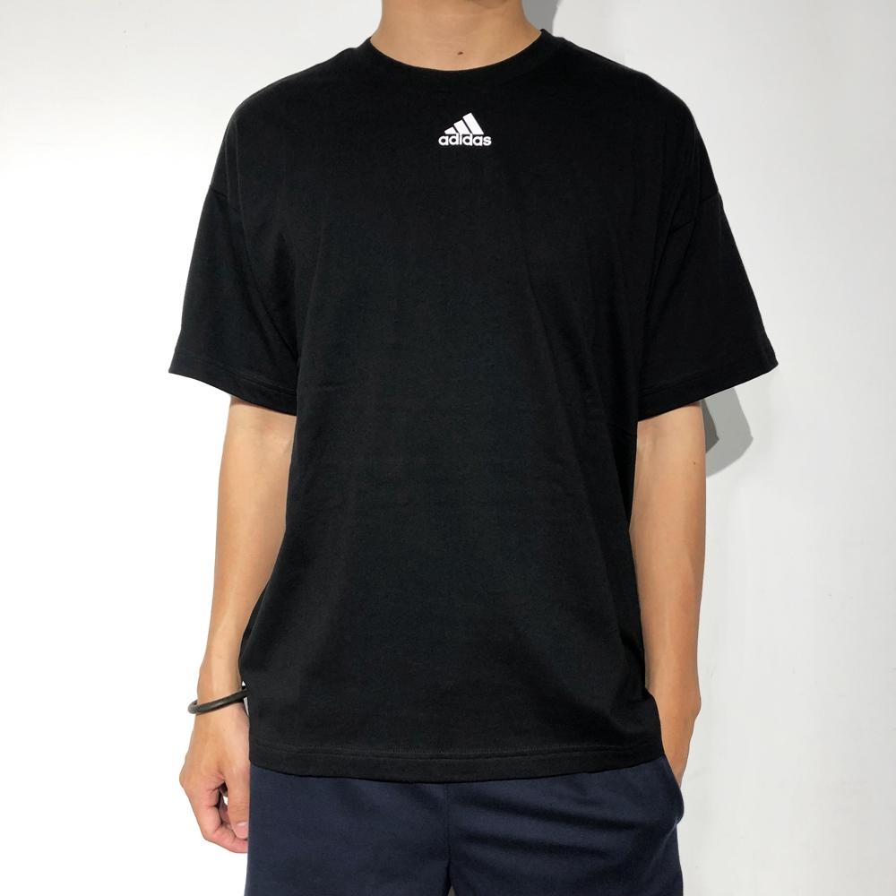 ADIDAS 3 STRIPES 男短袖上衣 EB5277 黑