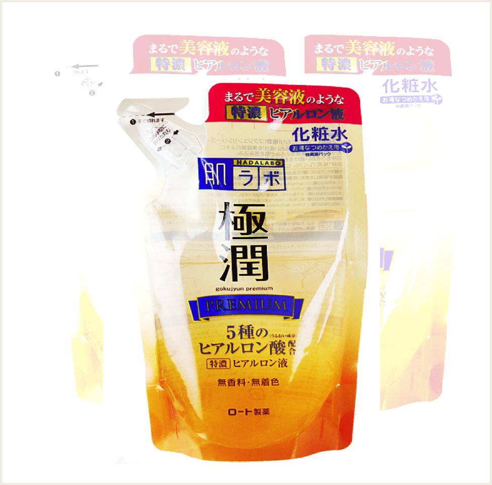 潼漾小舖 rohto肌研 金極潤保濕化妝水 (補充包) 170ml