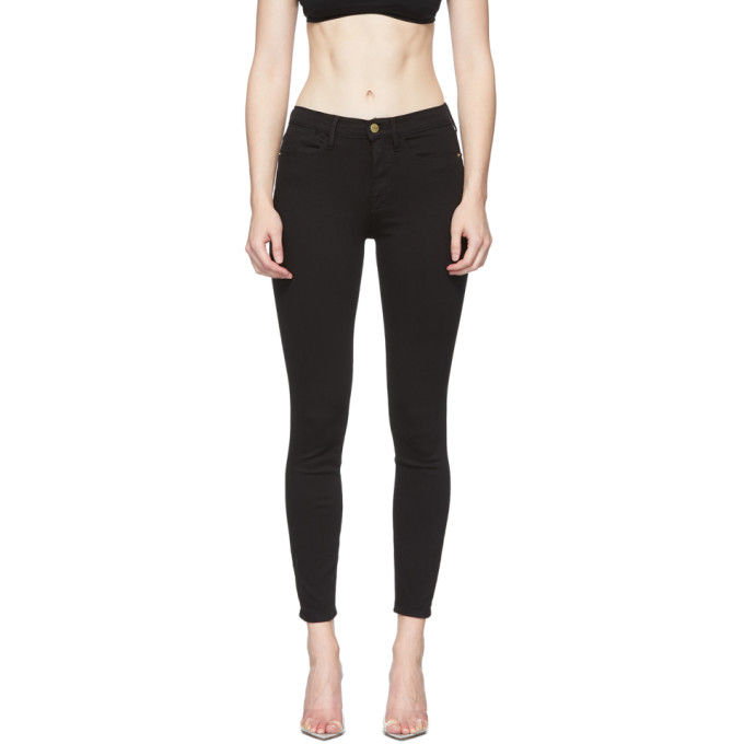 Frame 黑色 Le High Skinny 牛仔裤