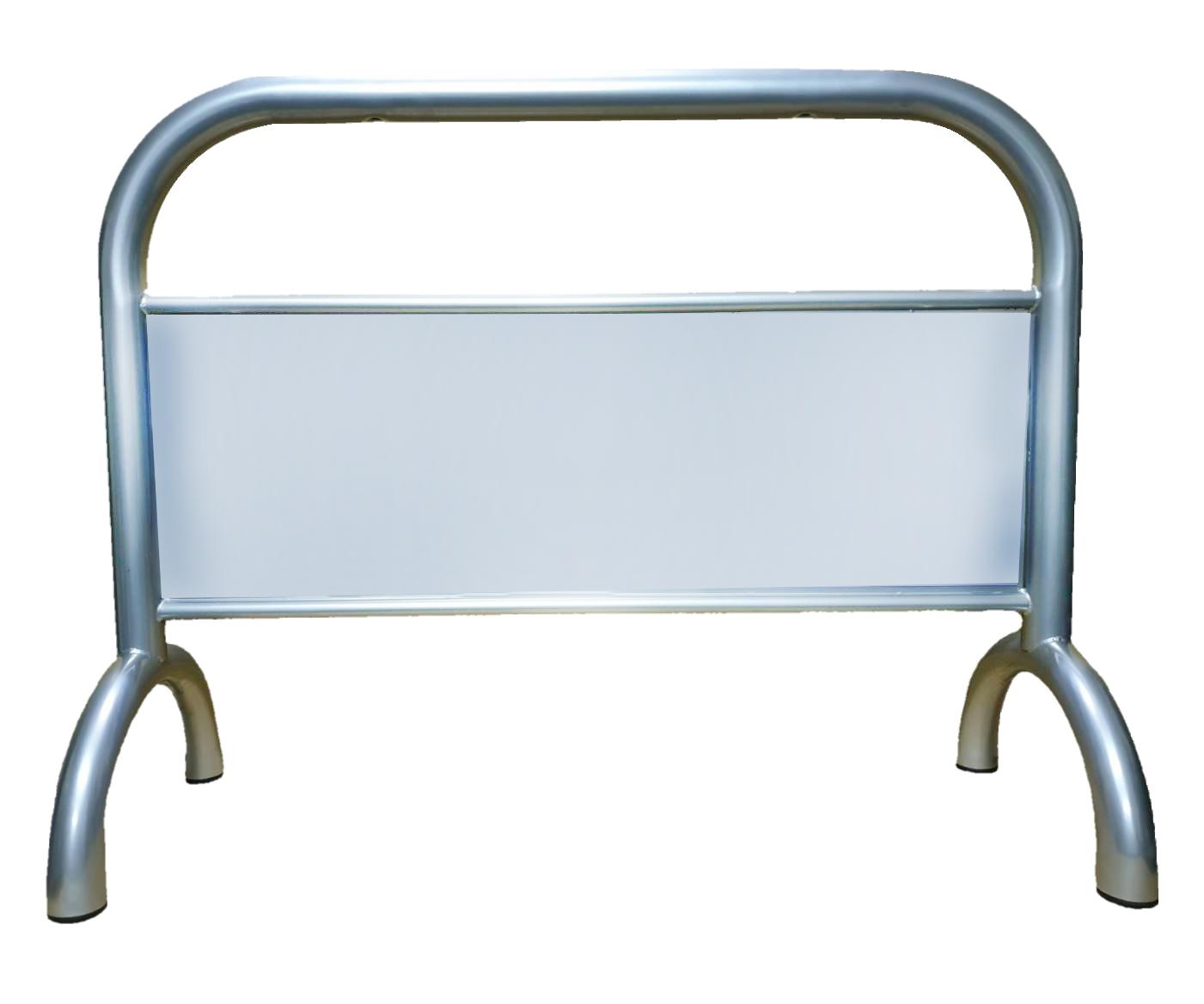 不銹鋼拒馬 TS-209SR 可印製彩圖貼紙(價格另計) 附腳墊 耐磨防地面刮傷 大型廣告看板 城市美學