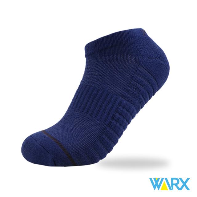 WARX除臭襪 二刀流-氣流循環船型運動襪 XL號28-31cm-深藍黑