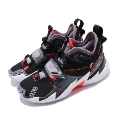 Nike 籃球鞋 Why Not Zer 03 女鞋 避震 包覆 喬丹 爆裂紋 明星款 大童 黑 灰 CD5804006