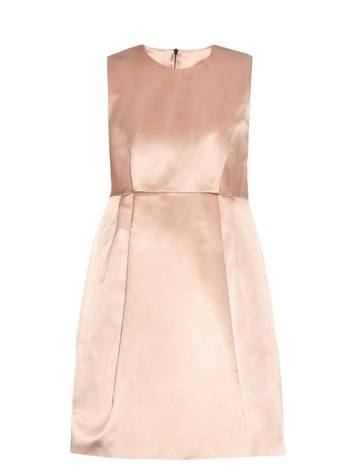 Raey - Babydoll Duchess Silk-satin Dress - Womens - Pink