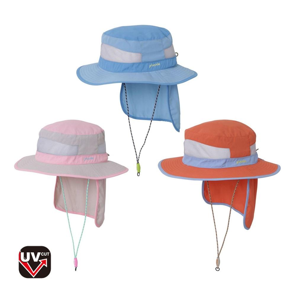 【PHENIX】童抗UV漁夫帽 [三色可選] 兒童 抗UV帽 兒童帽 漁夫帽 | PH181KAF01