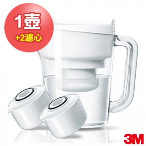 【3M】經典款即淨長效濾水壺WP3000 (1壺+2濾心)