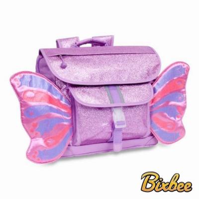 美國Bixbee 飛飛童趣系列 粉紫閃閃蝴蝶中童背包