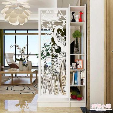 屏風 歐式隔斷屏風客廳臥室玄關隔斷座屏儲物柜辦公酒店裝飾架多功能