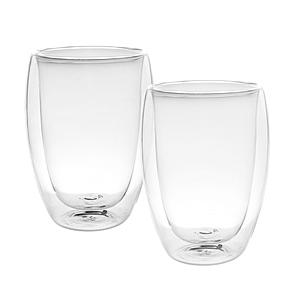 蛋型雙層玻璃馬克杯 350ml 2入組