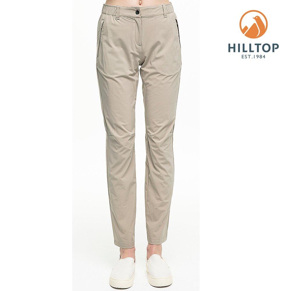 【hilltop山頂鳥】女款超潑水抗UV彈性長褲S07FH8亮卡