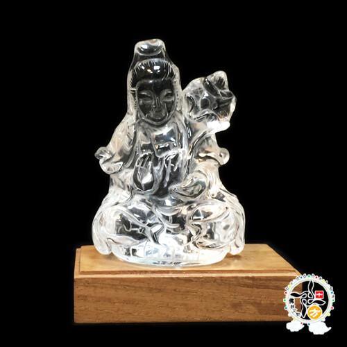 水晶蓮花觀音 高10公分  十方佛教文物