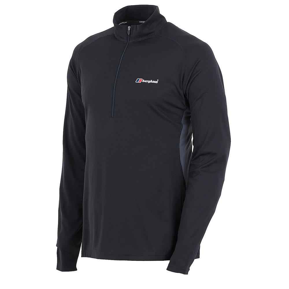 【Berghaus貝豪斯】男款銀離子圓領衫S15M03-黑