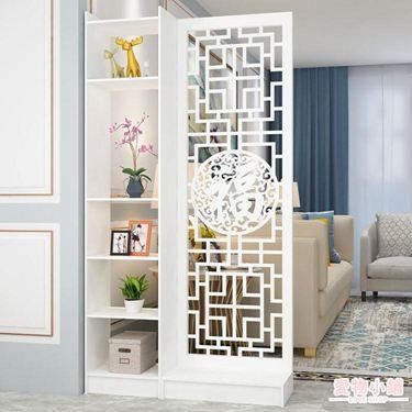 屏風 現代中式簡約家具時尚屏風隔斷客廳臥室餐廳鏤空花座屏玄關隔斷柜