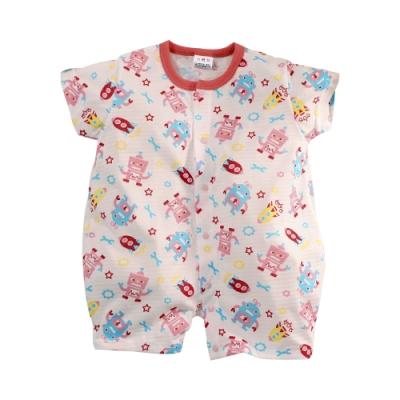 魔法Baby 台灣製薄款嬰幼兒短袖連身衣 k51351