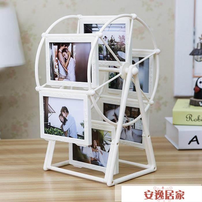 創意DIY手工訂製照片風車旋轉相框擺臺相冊結婚紀念韓式生日禮物 安逸居家 YTL