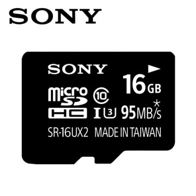 SONY 16GB microSDHC R95/W60 C10 U3記憶卡 公司貨附轉卡