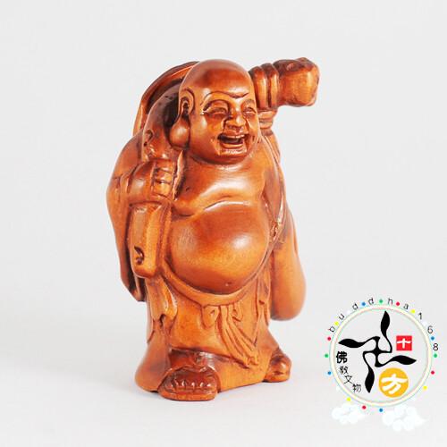 布袋彌勒{黃楊木}   十方佛教文物