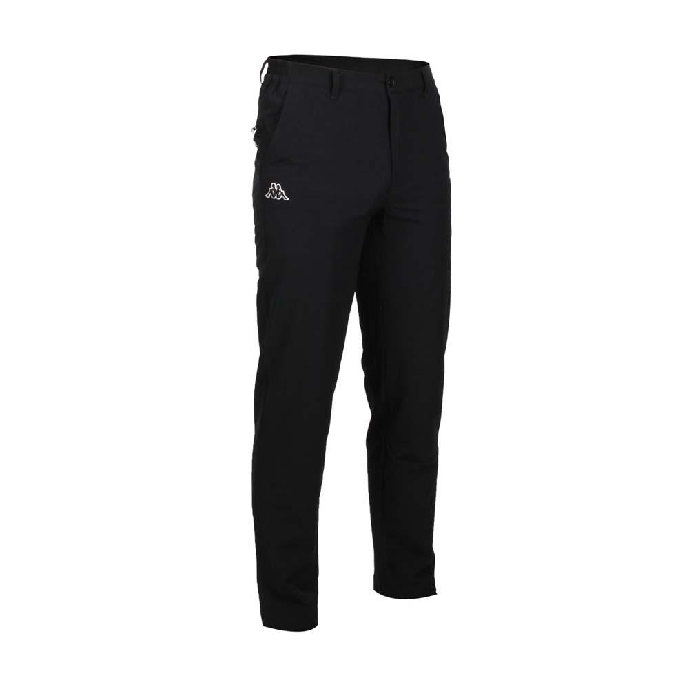 KAPPA 男平織長褲-慢跑 路跑 運動 黑白