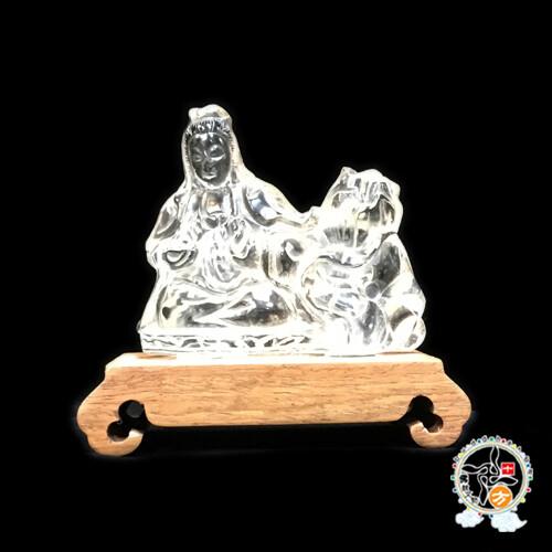 水晶蓮花觀音擺件  十方佛教文物