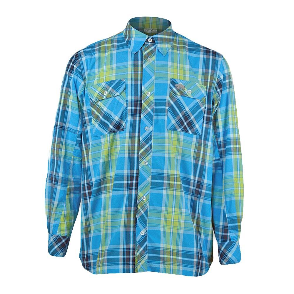 【POLAR BEAR】男抗UV吸濕排汗襯衫-20R03