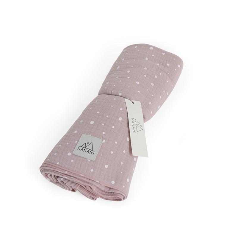 透氣多功能包巾-不規則點點-玫瑰粉